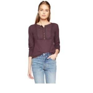 Lucky Brand Embroidered L/S Thermal Purple XXL